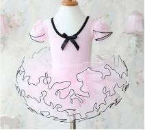 Váy múa hồng cổ nơ số 1