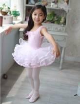Váy múa hồng đính nơ