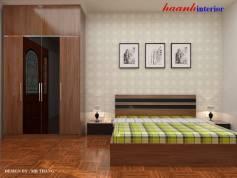 Thiết kế phòng ngủ dành cho khách công trình chị Hoa – Văn Khê