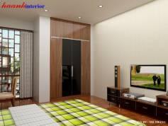Thiết kế phòng ngủ con trai công trình chị Hoa – Văn Khê