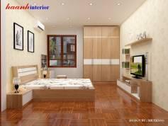 Thiết kế phòng ngủ vợ chồng công trình chị Hoa–Văn Khê