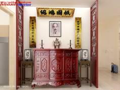 Thiết kế và thi công Phòng thờ giả cổ chung cư  hyundai hillstate