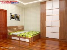 Thiết kế nội thất phòng ngủ công trình Tân Mai