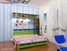 Thiết kế phòng ngủ cho bé trai Khu Ninh Hiệp, từ sơn