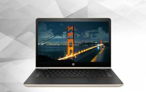 Laptop Hp Pavilion x360 14-ba129TU 3MR85PA (Gold)
