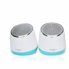 Loa máy tính Soundmax A160 (Trắng Viền Xanh)