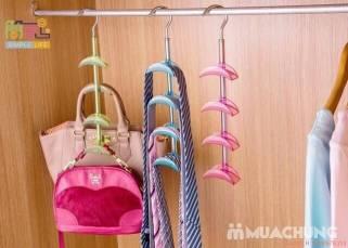 Móc treo túi xách cà vạt 4 tầng tiện ích