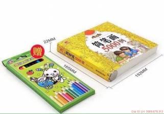 Sách tô màu 1000 hình & Hộp bút màu