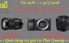 Giảm từ 1,500,000 đvn đến 2,000,000 đvn khi mua A6300 kèm Lens Sony 50F1.8 FE