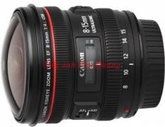 Lens Canon EF 8-15mm F4 L Fisheye