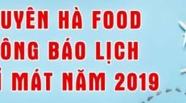 Nguyên Hà Food thông báo lịch nghỉ mát năm 2019