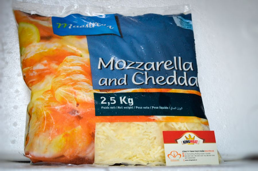 PHÔ MAI MOZZA & CHEDDAR BÀO SỢI - FRENCH MOZZA & CHEDDAR MIX SHREDDED - GÓI 2.5 KG