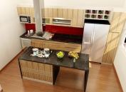 Tủ bếp gỗ công nghiệp MS15