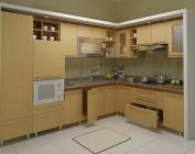 Tủ bếp gỗ công nghiệp MS17