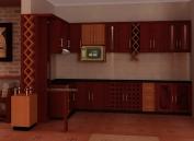 Tủ bếp gỗ công nghiệp MS19