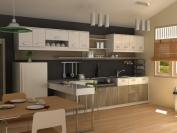 Tủ bếp gỗ công nghiệp MS20