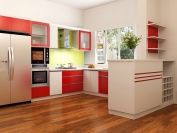 Tủ bếp gỗ công nghiệp MS22