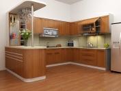 Tủ bếp gỗ công nghiệp MS24