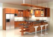 Tủ bếp gỗ công nghiệp MS25
