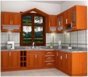 Tủ bếp gỗ tự nhiên MS02