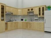 Tủ bếp gỗ tự nhiên MS03