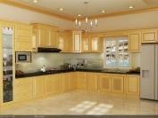 Tủ bếp gỗ tự nhiên MS04