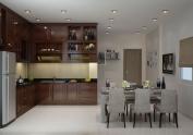 Tủ bếp gỗ tự nhiên MS05