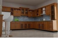 Tủ bếp gỗ tự nhiên MS07