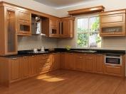 Tủ bếp gỗ tự nhiên MS08