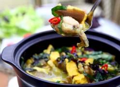 Hướng dẫn cách nấu ếch om chuối đậu thơm ngon