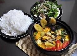 Cách nấu ốc om chuối đậu thơm ngon cuối tuần