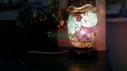 Đèn xông tinh dầu thủy tinh rạn 07