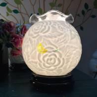 Đèn xông tinh dầu hoa hông trắng
