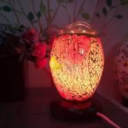 Đèn xông tinh dầu thuỷ tinh rạn 12