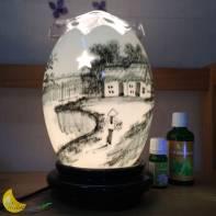 Đèn xông tinh dầu bát tràng đèn trắng đồng quê
