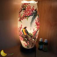 Đèn xông tinh dầu hoa đào chim vàng anh