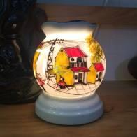 Đèn xông tinh dầu cở nhỏ dáng quả lựu 2016