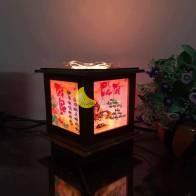 Đèn xông tinh dầu bằng gỗ Tài lộc- Phát tài