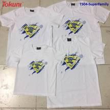 Áo T-Shirt trắng in Super Family TS04