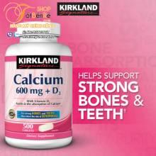 Bổ sung Calcium with D3 Kirkland 500 viên