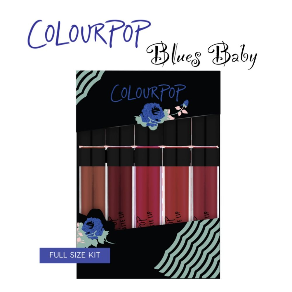 Set son colourpop Ultra Matte Blues Baby