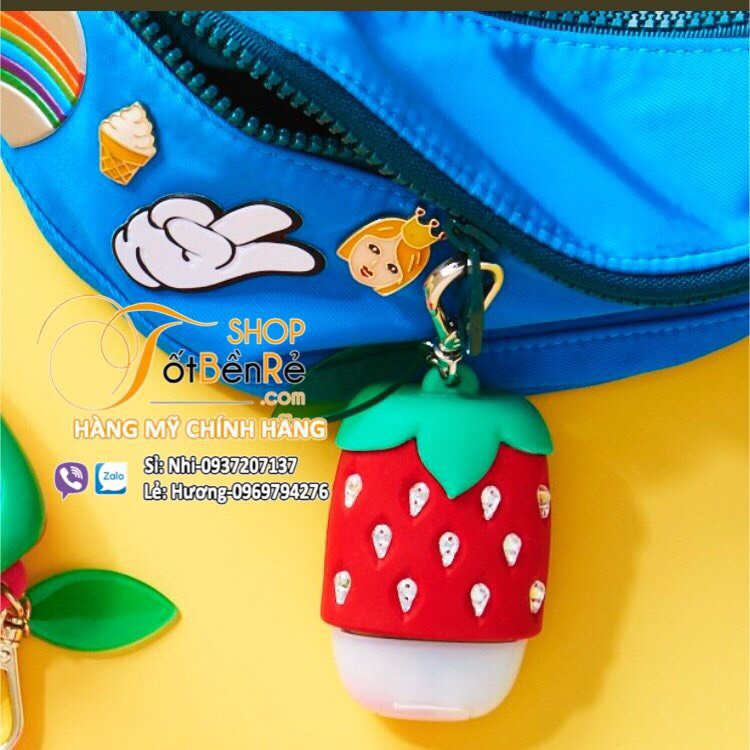 Holder túi đựng gel rửa tay Strawberry