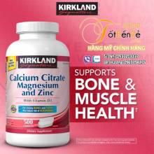 Kirkland Calcium Citrate Magnesium and Zinc 500 viên
