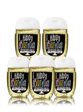 Set 5 Gel rửa tay Happy Birthday 29ml