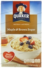 Yến mạch Quaker Instant Oatmeal Maple Brown Sugar