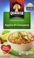 Yến mạch Quaker Instant Oatmeal Apples & Cinnamon Oatmeal, 1.51oz Packets