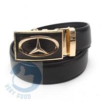Thắt lưng nam da bò khóa gạt logo Mercedes - Benz