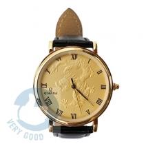 Đồng hồ nam dây da siêu mỏng mặt rổng nổi bật QianBa