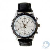 Đồng hồ nam dây da Cafuer 6 kim hiển thị ngày