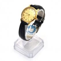 Đồng hồ nữ dây da mặt phượng ( mặt vàng dây đen)